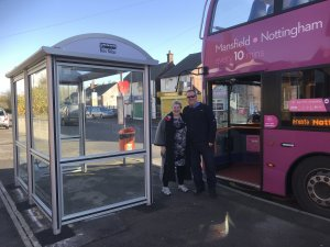 New Bus Shelter outside St. Albans Church