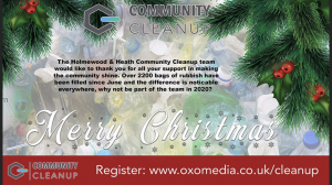 The Community Cleanup Team wish you a very Happy Christmas